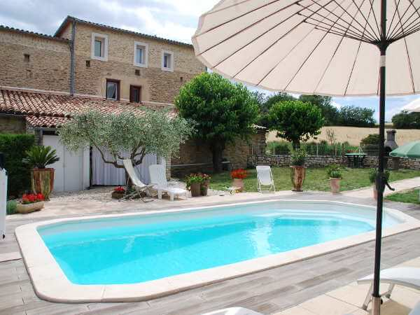 Cottage swimming pool Cevennes renting
