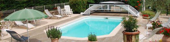 piscine en location Gîte