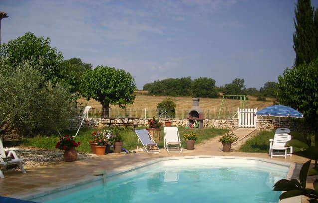 piscine Gîte en location